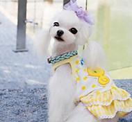 Лето Pet Симпатичные Куры Цветок Жилет для Собаки (разных цветов, размеров)
