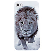 Vivid Lion Head Pattern ABS Back Case for iPhone 4/4S