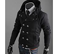 мужская Slim Fit случайные капот куртка