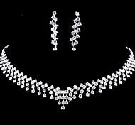 свадьба элегантный rhinetone Crytal серьги и ожерелье ювелирные изделия и др