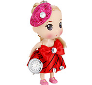 Women's Doll Shape Keychain Watch (Red)