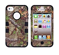 Tree Branch Pattern Protective Silicone Case for iPhone 4/4S (Assorted Colors)