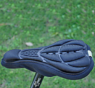 Silica Gel&Sponge& Lycra Thickening Black Bicycle Saddle Cushion