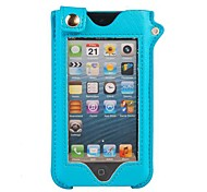 Fashion Touchable Stand Pouch Leather Case With A Strap for iPhone5/5S