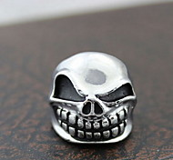 Z&X®  Gothic Silver Alloy Irregular Skull Men's Statement Rings(1 Pc)