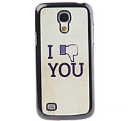 Screw You Decal Pattern Mirror Smooth Back Hard Case for Samsung Galaxy S4 Mini I9190