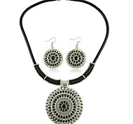 European Style Alloy Necklace Earring Jewelry Set