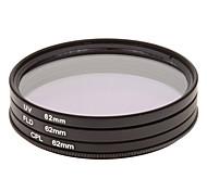 CPL + UV + Filtro FLD Conjunto para câmera com Filtro Bag (62 milímetros)