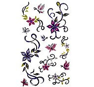 5 Pcs Flower Waterproof Temporary Tattoo(9.5cm*19.5cm)
