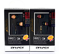 ES-Q5-Awei Super Bass Aluminium Alloy In-Ear Earphone with Mic for Mobilephone/PC/MP3
