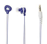E028 3.5mm estéreo de alta calidad de cabeza del auricular del En-oído con el Mic para MP3 (azul)