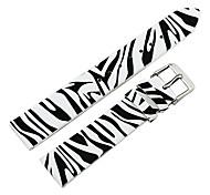Frauen-18mm Zebra-Streifen echtes Leder-Uhrenarmband