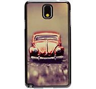 Cartoon Car Decal Pattern Mirror Smooth Back Hard Case for Samsung Galaxy Note3 N9000