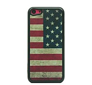 Retro Style American Flag Drawing Pattern Hard Case for iPhone 5C