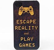 escapar de la caja trasera protectora estilo de la realidad para el iphone 4 / 4s