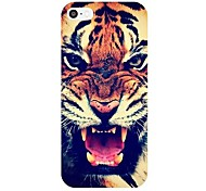 Roaring Tiger Pattern Frame PC caso duro para el iPhone 4/4S