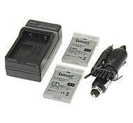 ismartdigi 1050mAh Camera Battery(2pcs)+Car Charger for NIKON E4200E7900 E5900 P520 P51