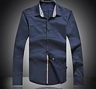 Hombres Nuevo Arrive Moda delgado de manga larga Tallas Grandes Shirt