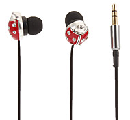Beetle-Shaped Stereo In-Ear Headphone(Red)