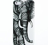 Links Elefant-Muster Hard Case für das iPhone 4/4S