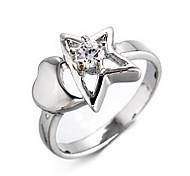 Wedding Style Fashion Star Silver Ring