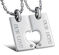 Fashion Love Stainless Steel Couple's Necklace(2 PCS)