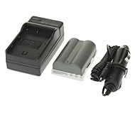 ismartdigi 1650mAh Camera Battery+Car Charger for NIKON D700 D90 D80 D200 D300 FNP-150
