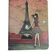 Case em Pele com Suporte para Novo iPad e iPad 2 - Torre Eiffel