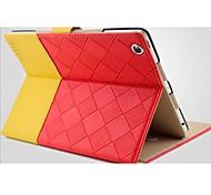 Voltear la venta CALIENTE del patrón ligero tejido PU funda de piel de cuerpo completo con soporte para iPad 2/3/4 (colores surtidos)