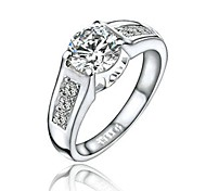 18K White Gold Plated Made with Genuine Austria Crystal Ring
