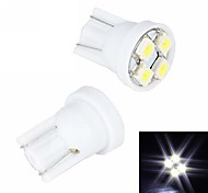 Merdia T10 4 SMD 3528 LED White Light  License Plate Light / Instrument Lamp(2 PCS/12V)