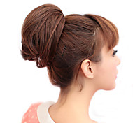 Rubber Band Legato sintetico Light Brown Straight Sposa Capelli Wrap