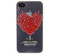 Love Heart Made of Balloons Pattern Back Case for iPhone 4/4S