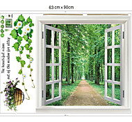 1PCS Colorful Removable Scenery Outside the Window Wall Sticker
