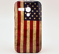 Retro US National Flag Pattern Soft Case Cover for Moto G