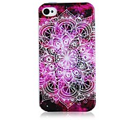 Pattern Flower Soft Case de silicone para iPhone5/5S