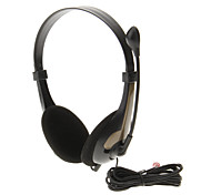 620 3.5mm High Quality Sound On-ear Headphone Headset with Mic for Computer(Gold)