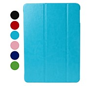 Custodia in pelle di colore solido con supporto per iPad Air