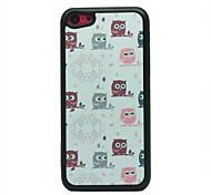 Colorful Owls Pattern Hard Case for iPhone 5C