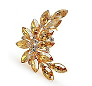 Shining Crystal Stones Brooch Fashion Olive Branch