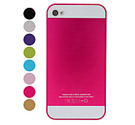 Brushed Metal Patchwork Pattern Plastic Hard Case for iPhone 4/4S