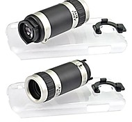 Angibabe 8X Optical Zoom 18mm Lens Telephoto Lens with Ultraslim Matte PC Hard Case for Samsung Galaxy S4mini i9190