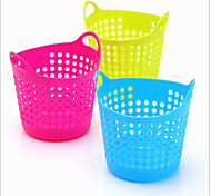 Simple Design Solid Color Junk Basket(Random Color,1 pcs)