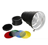 Aluminum Alloy Conical Snoot with Color Gels / Honeycomb for Studio Light