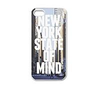 Estado de Nueva York de la mente del patrón de plástico duro caso para iPhone 5/5S