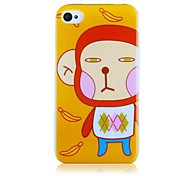 Monkey Pattern Silicone Soft Case for iPhone4/4S