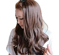 Woman Fashion Capless Long Wavy Synthetic Stylish None Bang Wigs 3 Colors Available