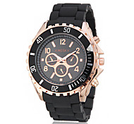 Women's Dress Style Big Dial Rubber Band Quartz Wrist Watch (Assorted Colors)