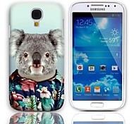 Lovely Koala Pattern Hard Case with 3-Pack Screen Protectors for Samsung Galaxy S4 mini I9190