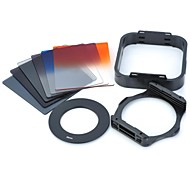 SHSYKJ09 10-in-1 Gradual Lens Filters + ND Lens + 55mm Ring Set for 55mm Lens Camera - Black